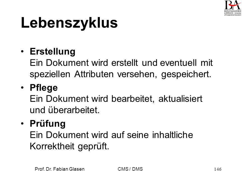 Prof. Dr. Fabian Glasen CMS / DMS