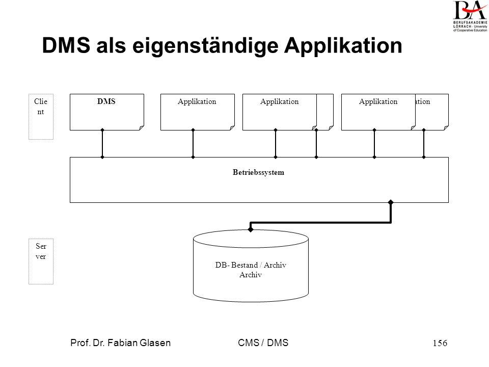 DMS als eigenständige Applikation