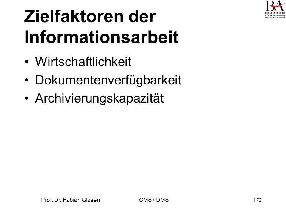 Zielfaktoren der Informationsarbeit