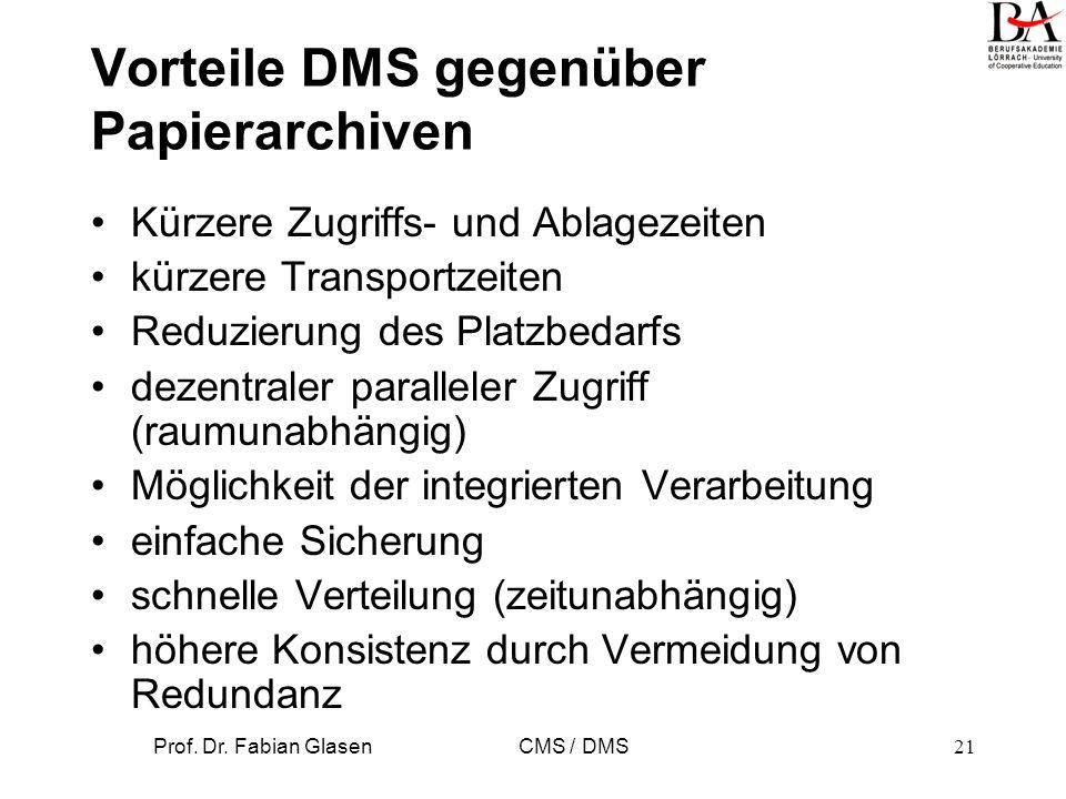 Vorteile DMS gegenüber Papierarchiven