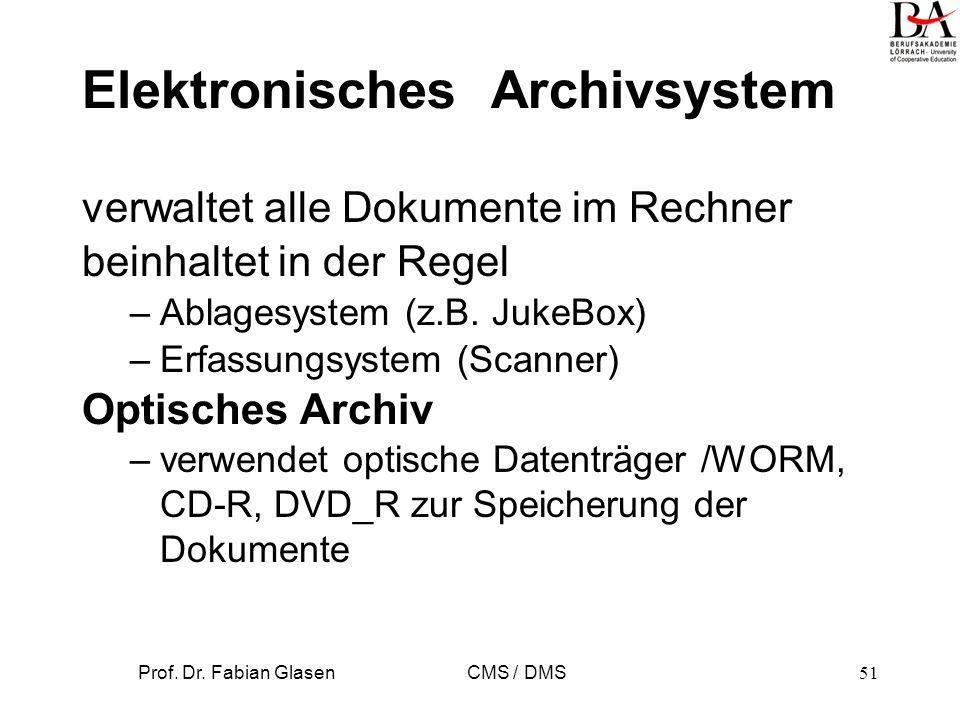 Elektronisches Archivsystem