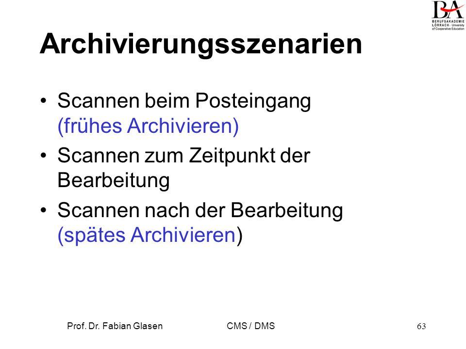 Archivierungsszenarien