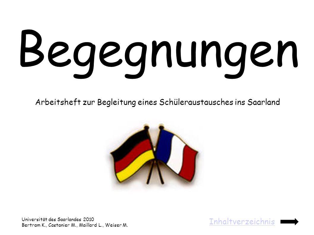 Arbeitsheft zur Begleitung eines Schüleraustausches ins Saarland