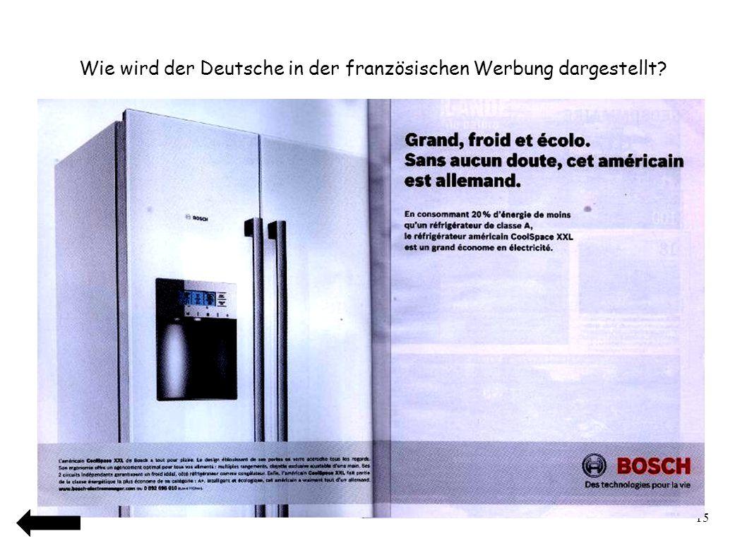 Wie wird der Deutsche in der französischen Werbung dargestellt