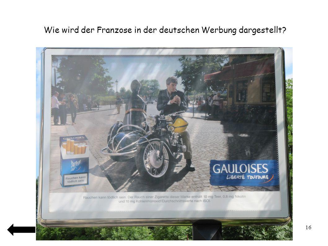 Wie wird der Franzose in der deutschen Werbung dargestellt