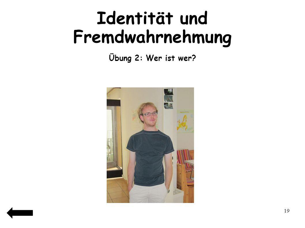 Identität und Fremdwahrnehmung