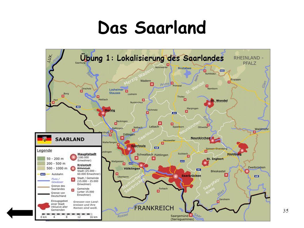 Übung 1: Lokalisierung des Saarlandes