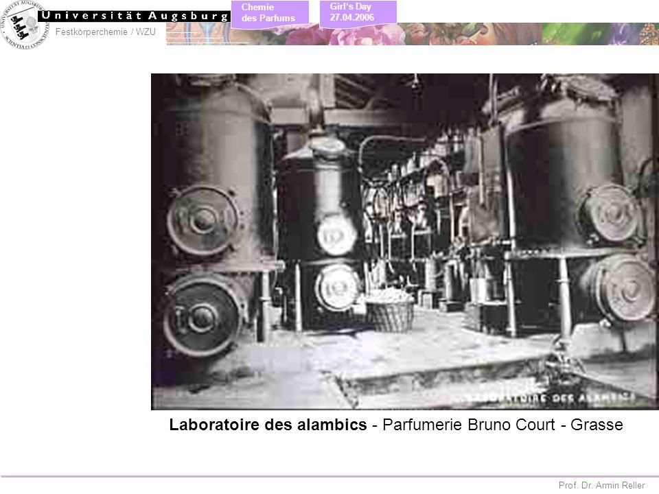 Laboratoire des alambics - Parfumerie Bruno Court - Grasse