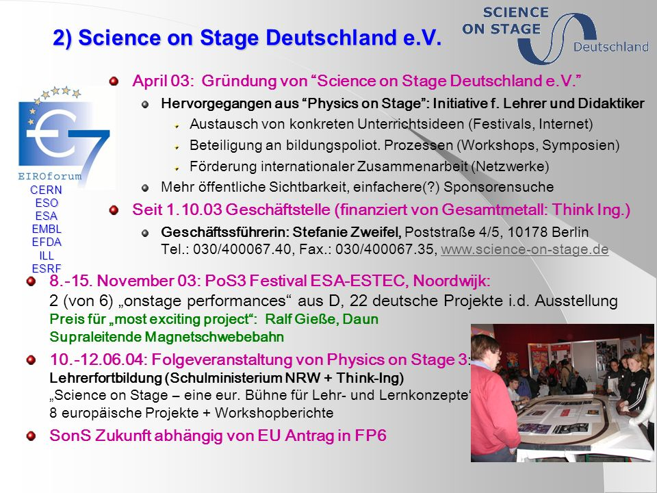 2) Science on Stage Deutschland e.V.