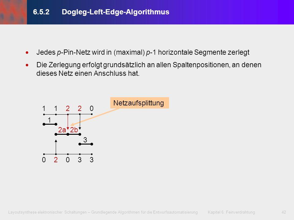 6.5.2 Dogleg-Left-Edge-Algorithmus