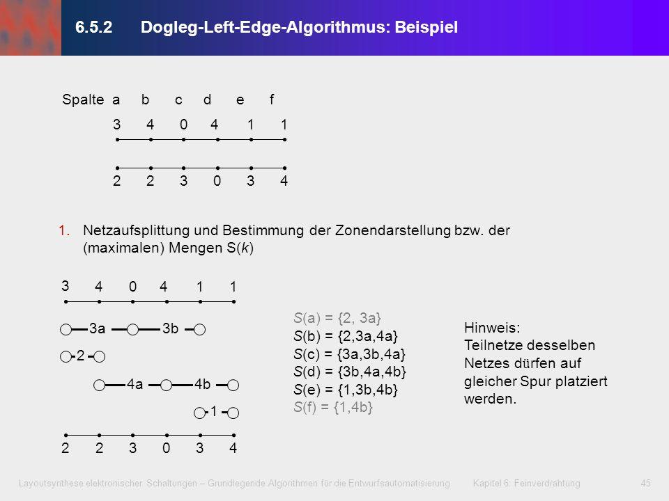 6.5.2 Dogleg-Left-Edge-Algorithmus: Beispiel