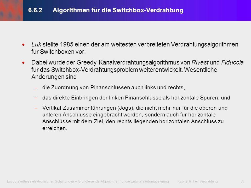 6.6.2 Algorithmen für die Switchbox-Verdrahtung