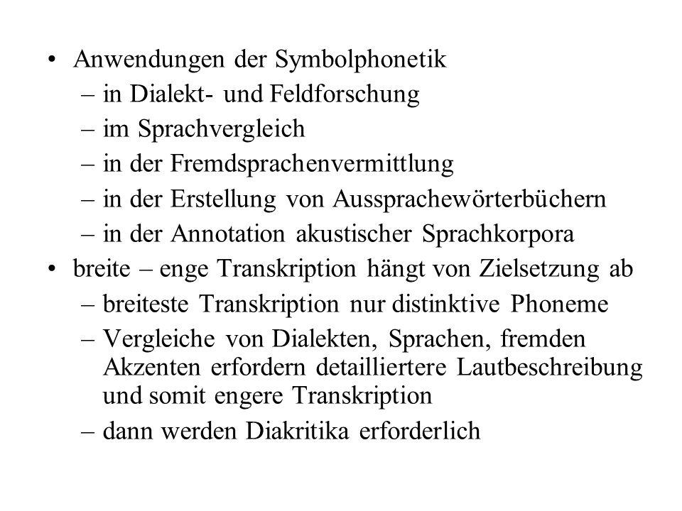 Anwendungen der Symbolphonetik