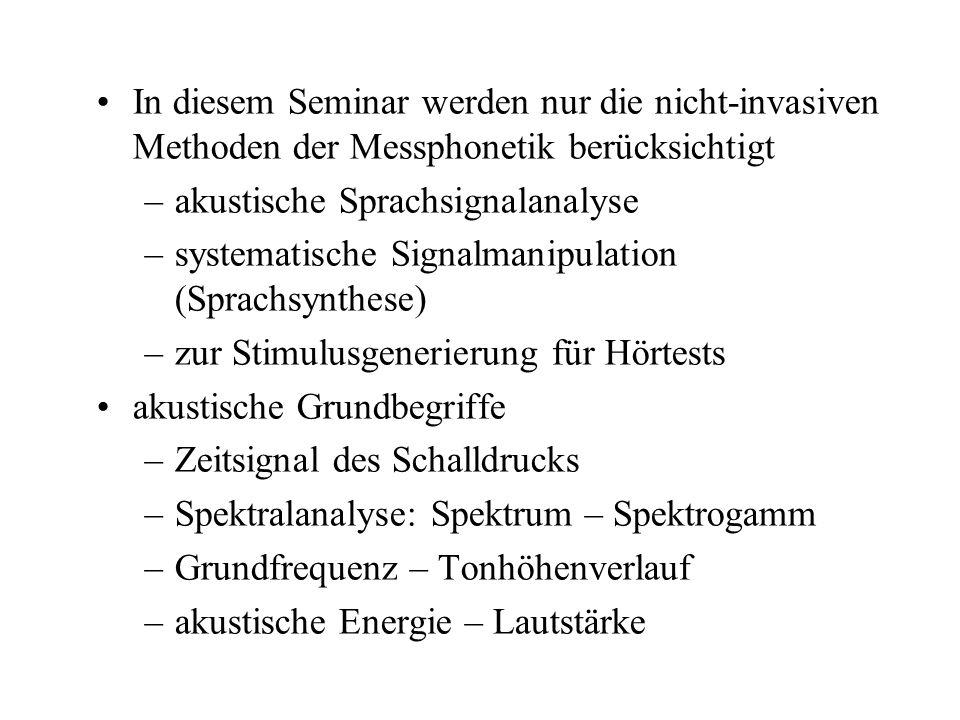 In diesem Seminar werden nur die nicht-invasiven Methoden der Messphonetik berücksichtigt
