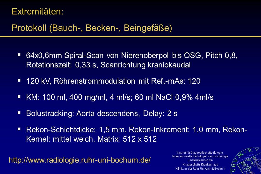 Protokoll (Bauch-, Becken-, Beingefäße)