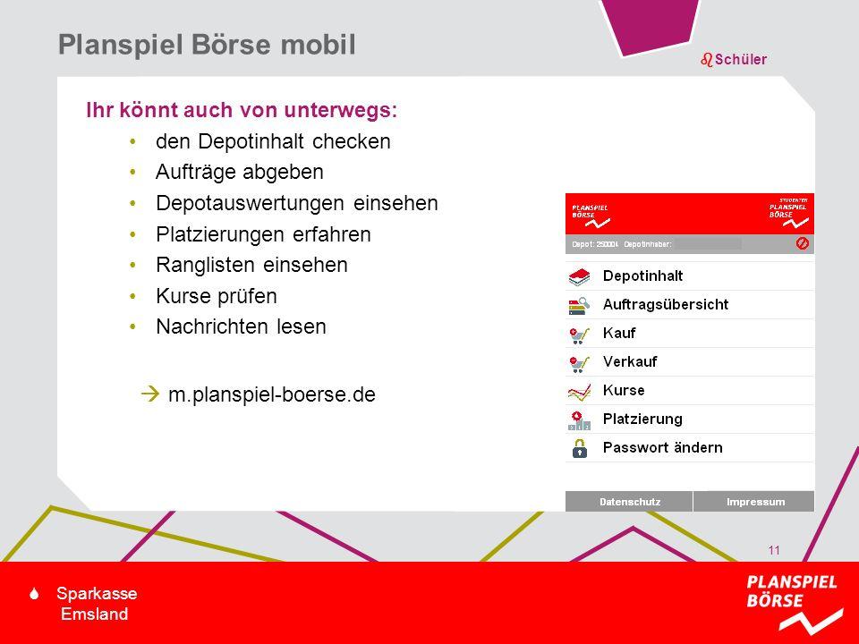Planspiel Börse mobil Ihr könnt auch von unterwegs: