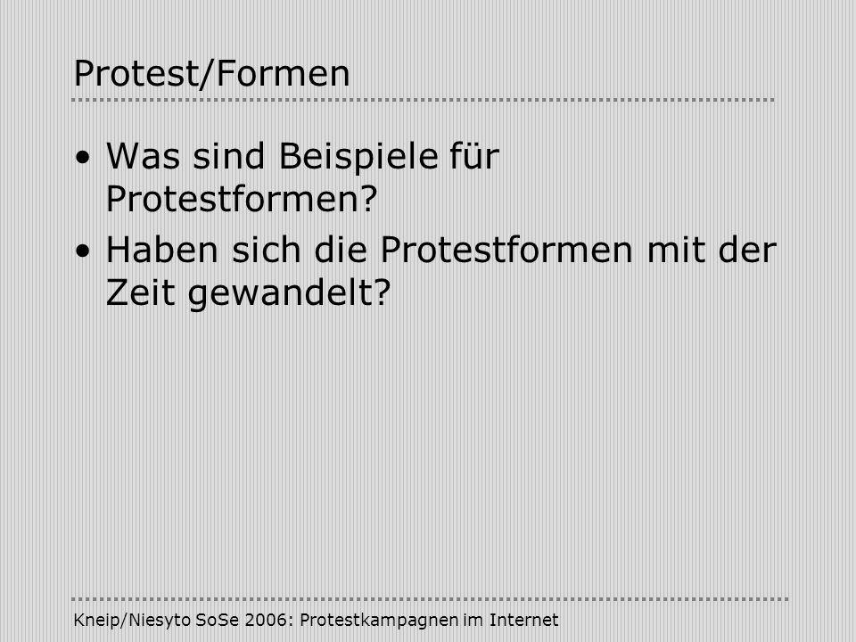 Was sind Beispiele für Protestformen