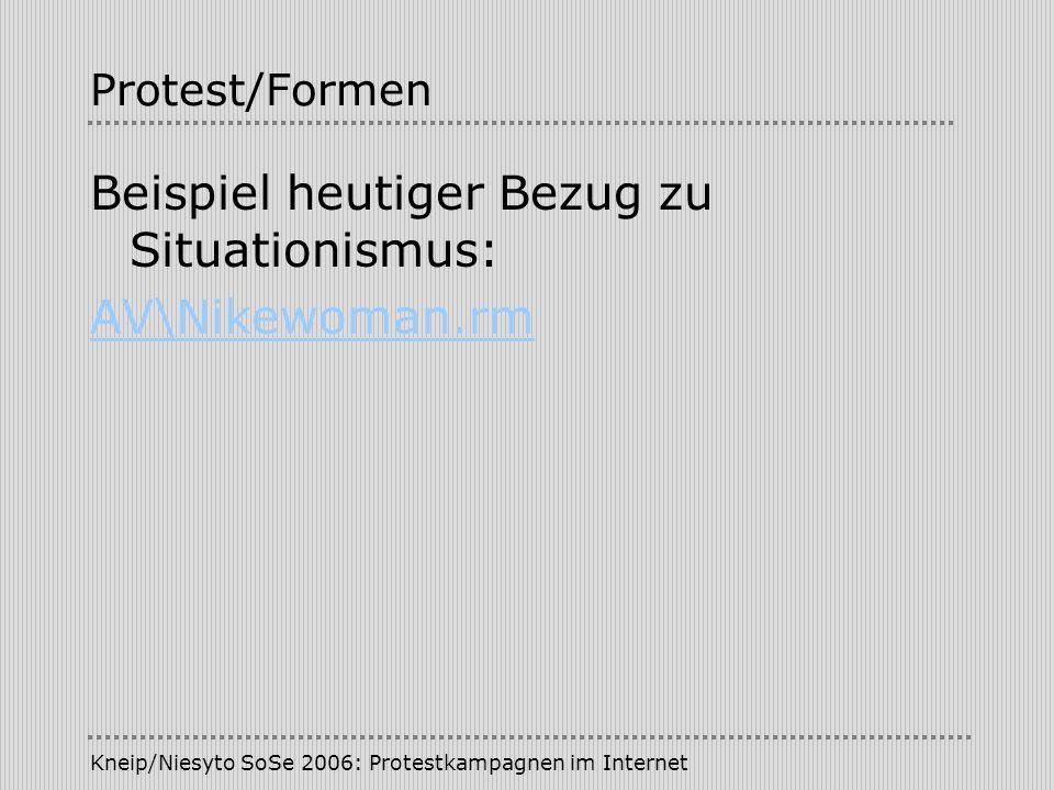 Beispiel heutiger Bezug zu Situationismus: AV\Nikewoman.rm