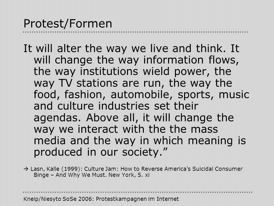 Protest/Formen
