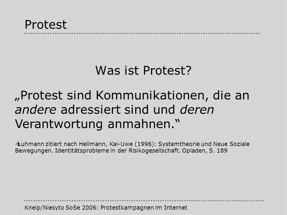 Protest Was ist Protest