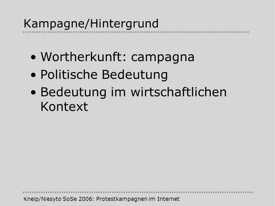 Kampagne/Hintergrund