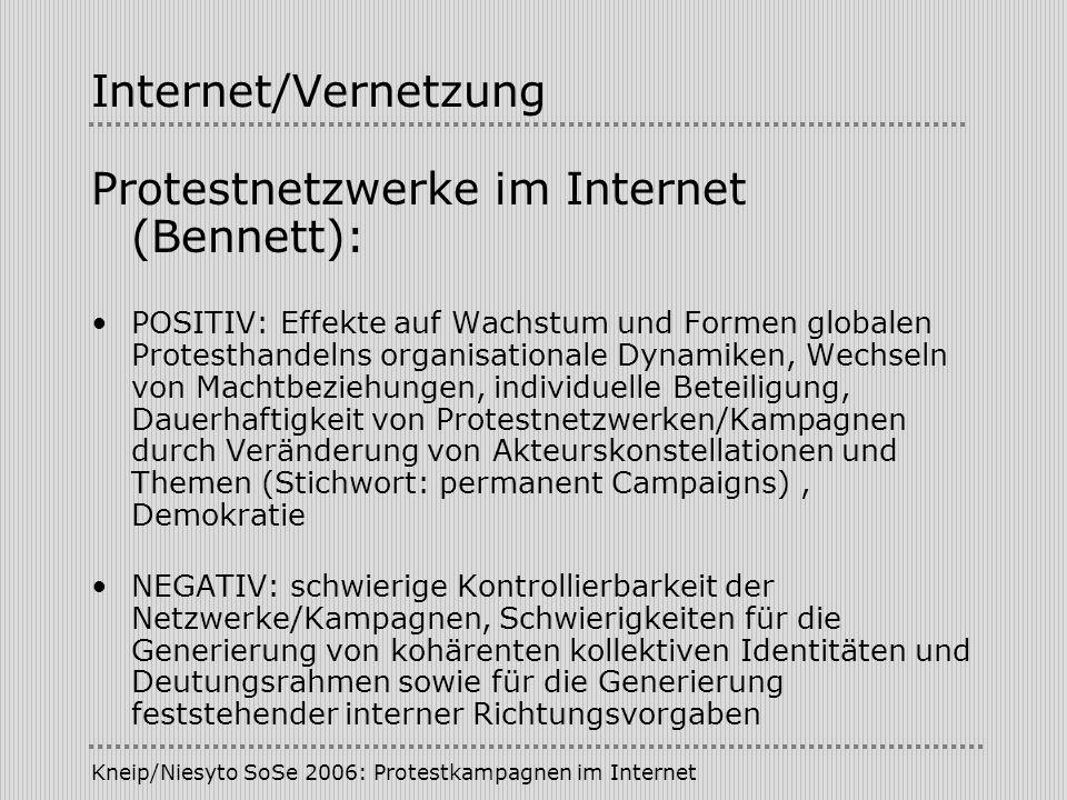 Protestnetzwerke im Internet (Bennett):