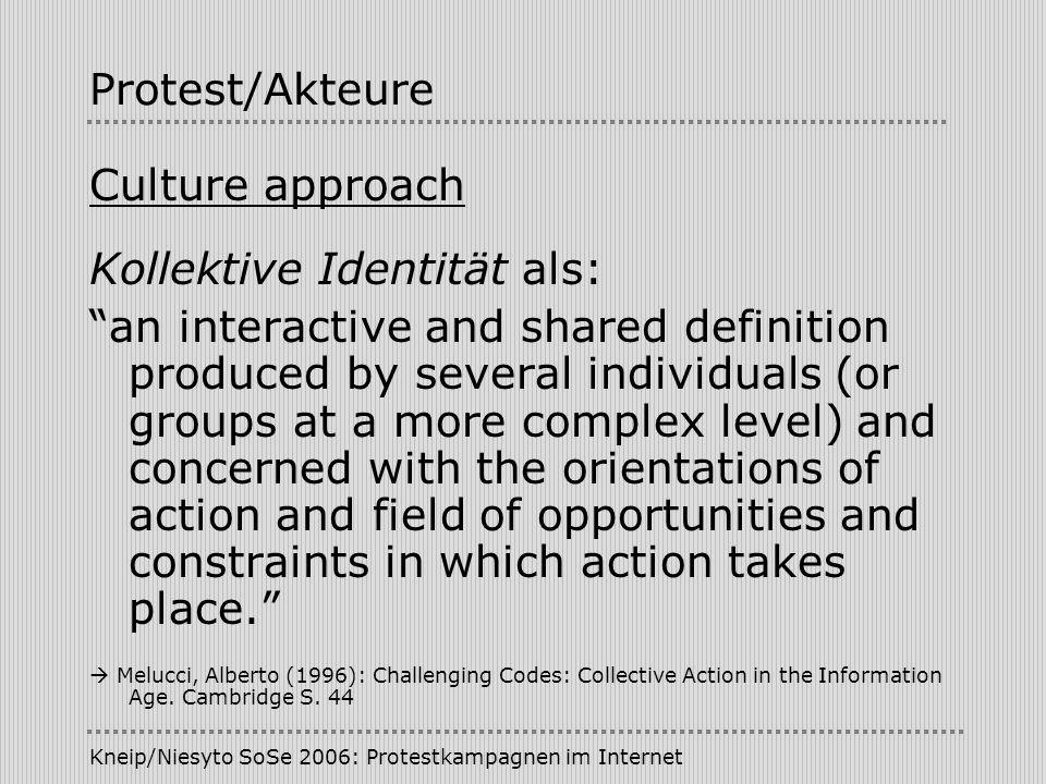 Kollektive Identität als: