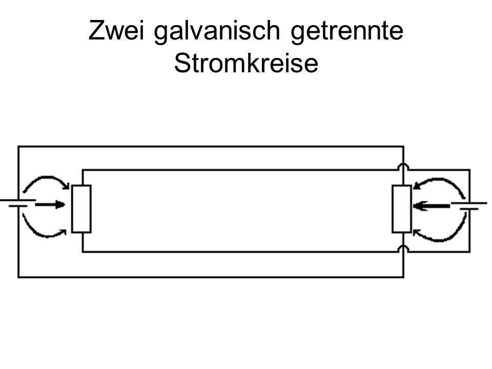 Zwei galvanisch getrennte Stromkreise