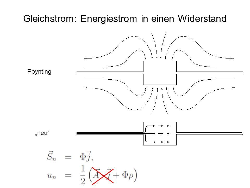 Gleichstrom: Energiestrom in einen Widerstand