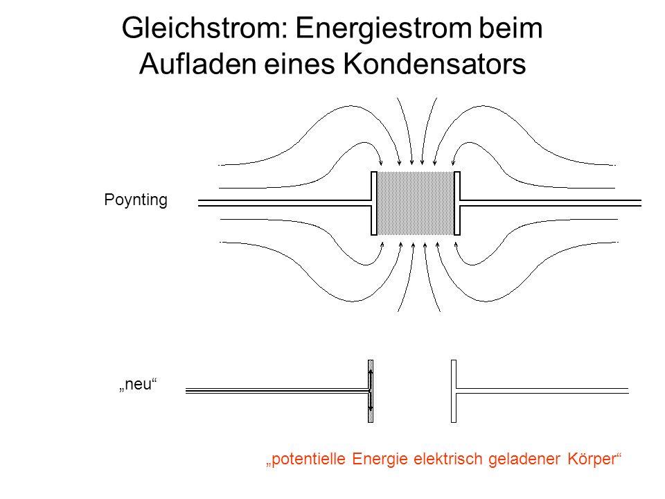 Gleichstrom: Energiestrom beim Aufladen eines Kondensators
