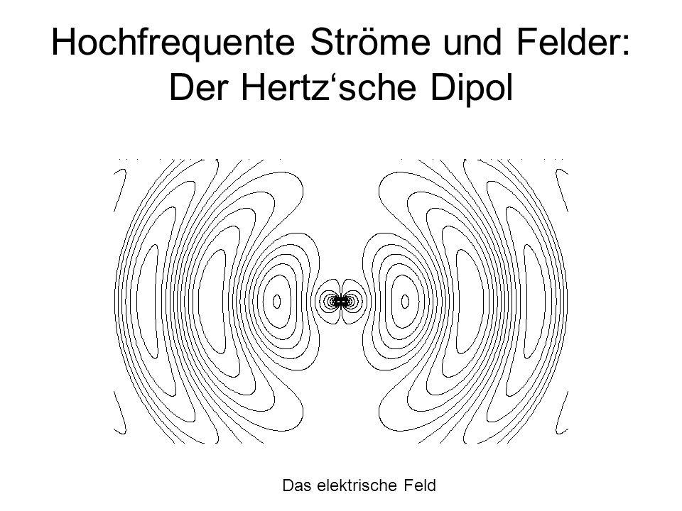 Hochfrequente Ströme und Felder: Der Hertz'sche Dipol