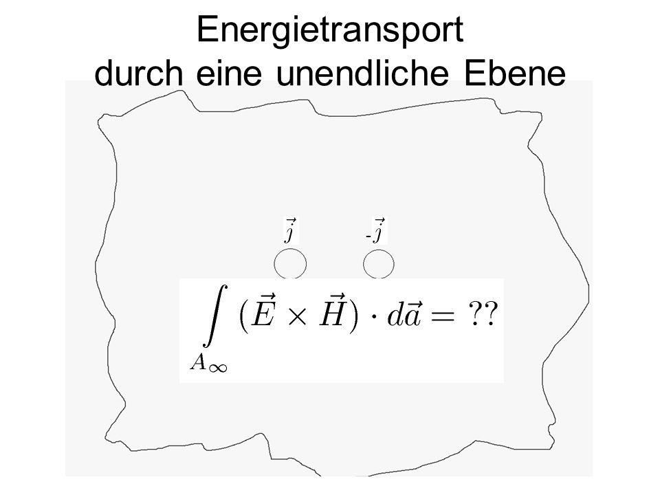 Energietransport durch eine unendliche Ebene