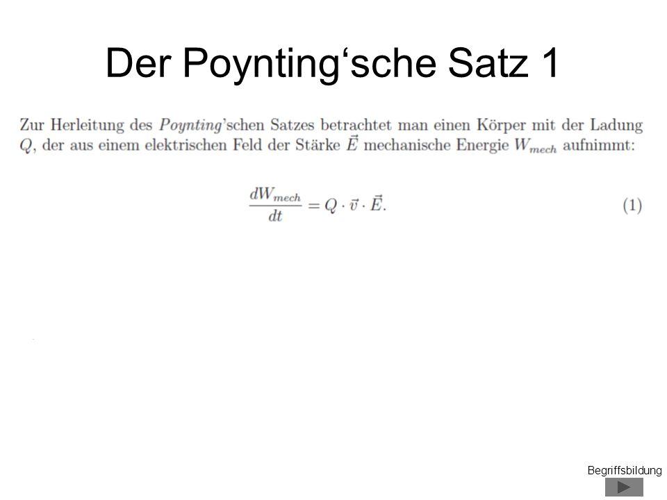 Der Poynting'sche Satz 1