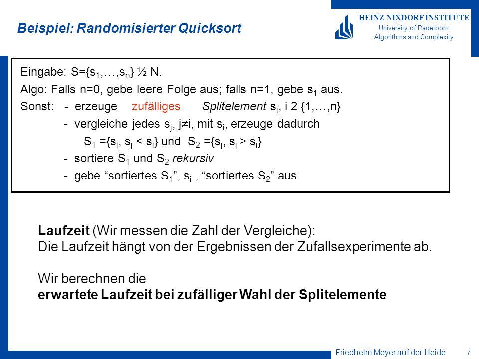Beispiel: Randomisierter Quicksort