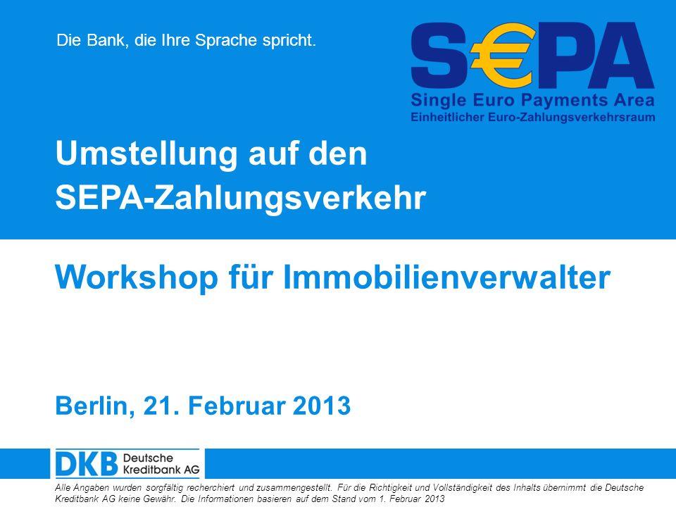 SEPA-Zahlungsverkehr Workshop für Immobilienverwalter