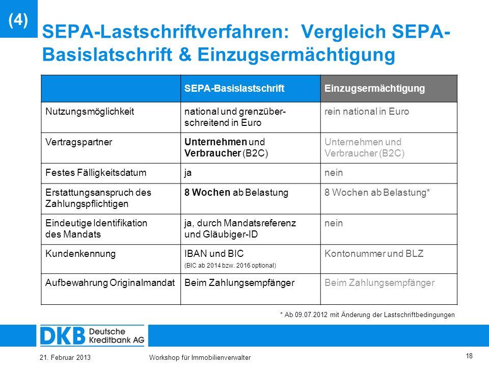(4) SEPA-Lastschriftverfahren: Vergleich SEPA-Basislatschrift & Einzugsermächtigung. SEPA-Basislastschrift.