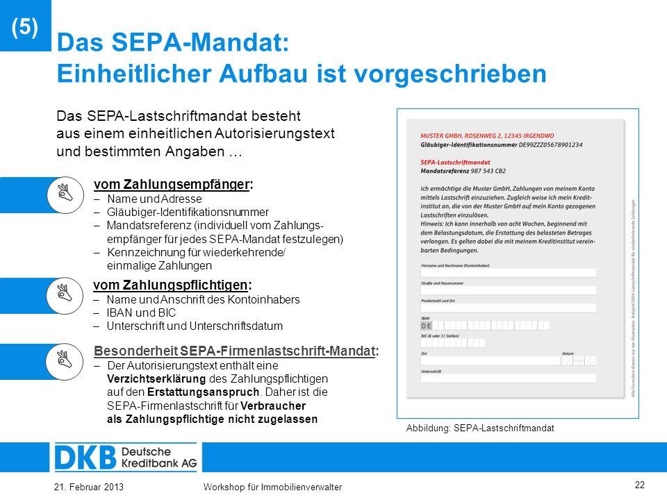 Das SEPA-Mandat: Einheitlicher Aufbau ist vorgeschrieben
