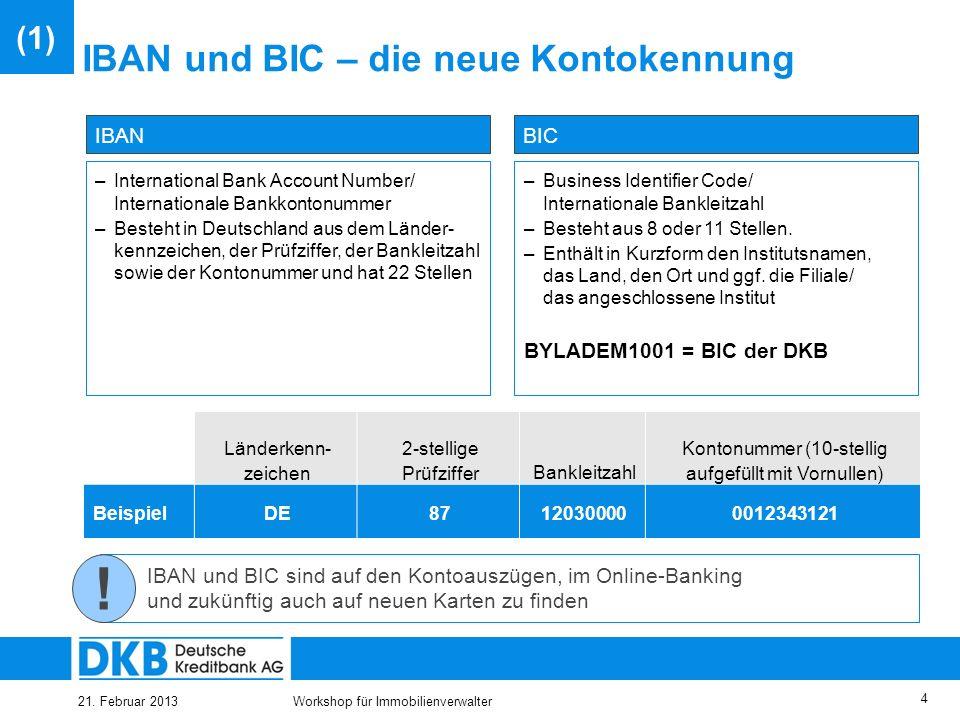 IBAN und BIC – die neue Kontokennung