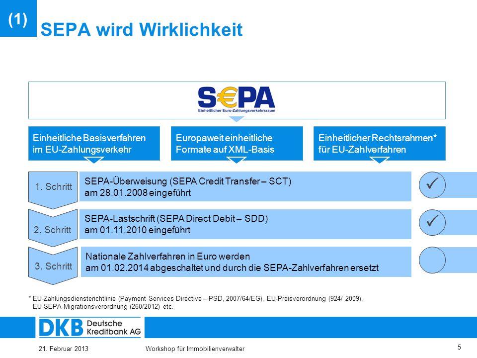 SEPA wird Wirklichkeit