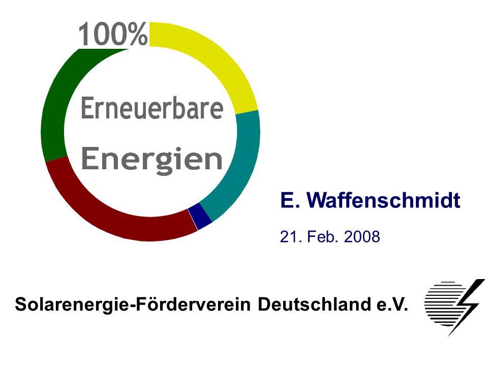 E. Waffenschmidt Solarenergie-Förderverein Deutschland e.V.