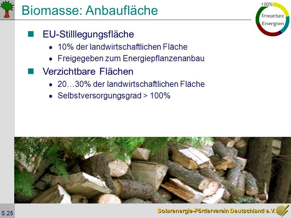 Biomasse: Anbaufläche