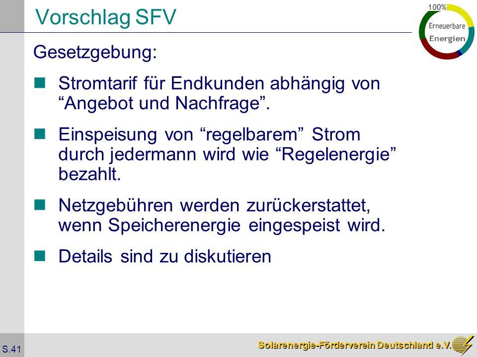 Vorschlag SFV Gesetzgebung:
