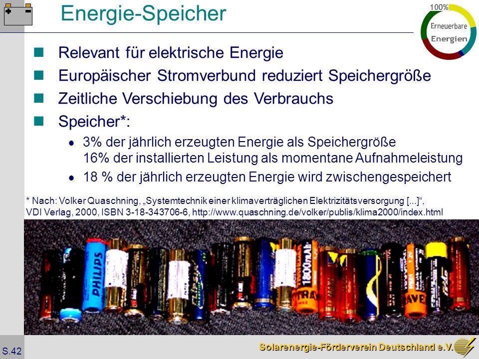 Energie-Speicher Relevant für elektrische Energie