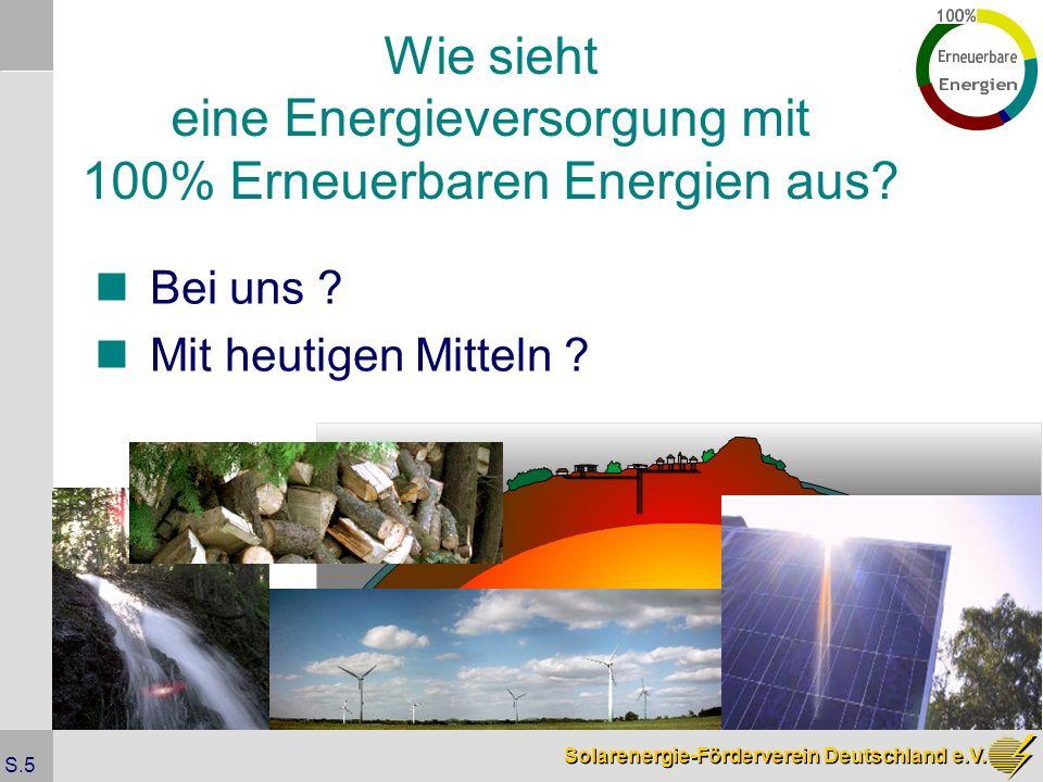 Wie sieht eine Energieversorgung mit 100% Erneuerbaren Energien aus