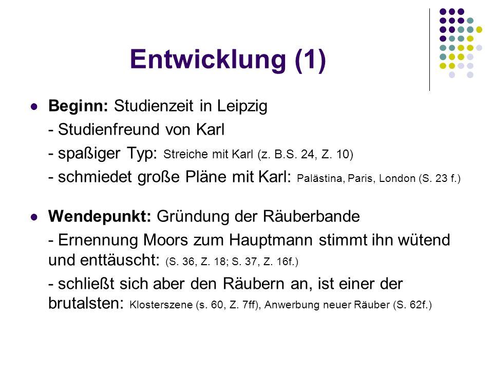 Entwicklung (1) Beginn: Studienzeit in Leipzig