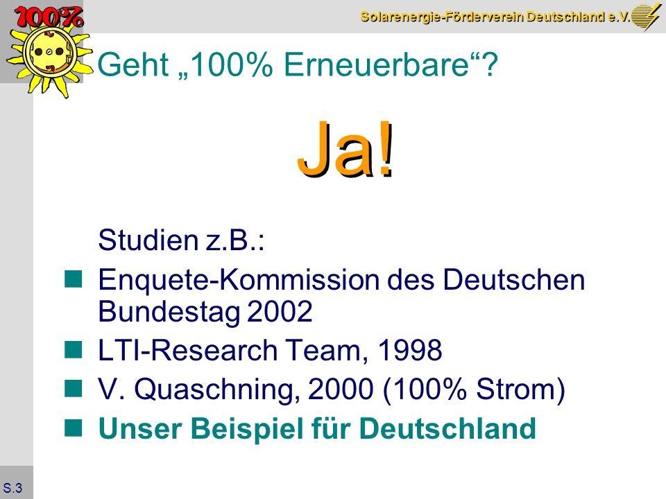 """Ja! Geht """"100% Erneuerbare Studien z.B.:"""