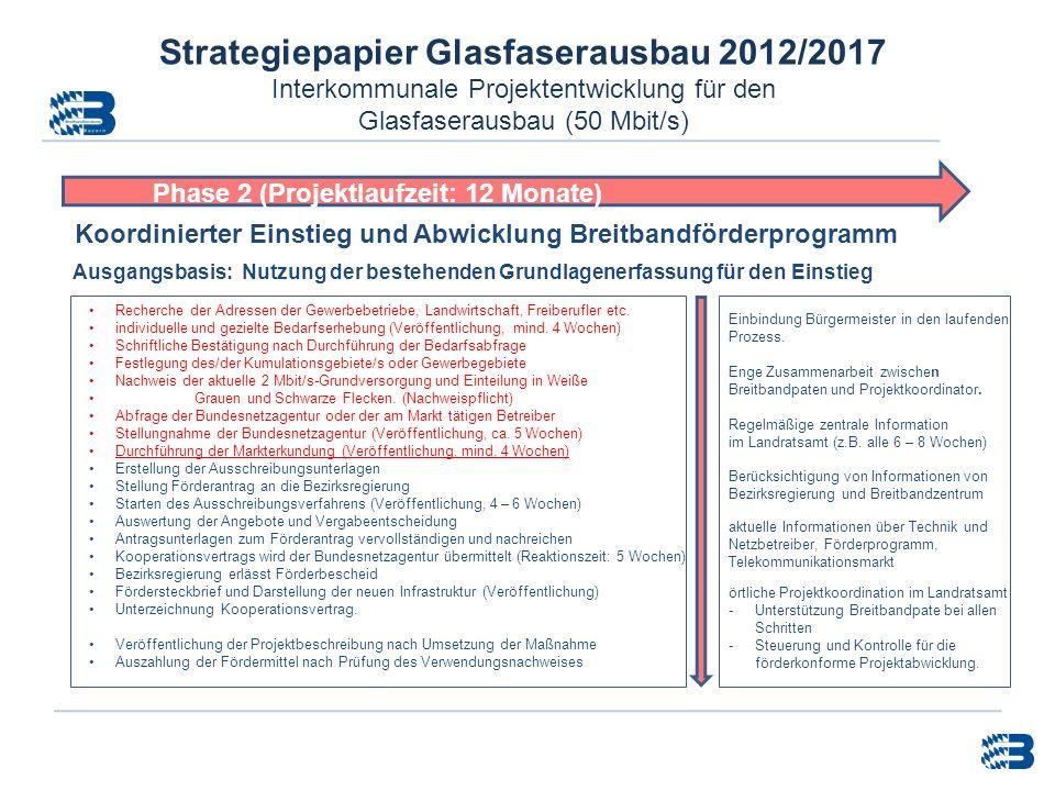 Strategiepapier Glasfaserausbau 2012/2017 Interkommunale Projektentwicklung für den