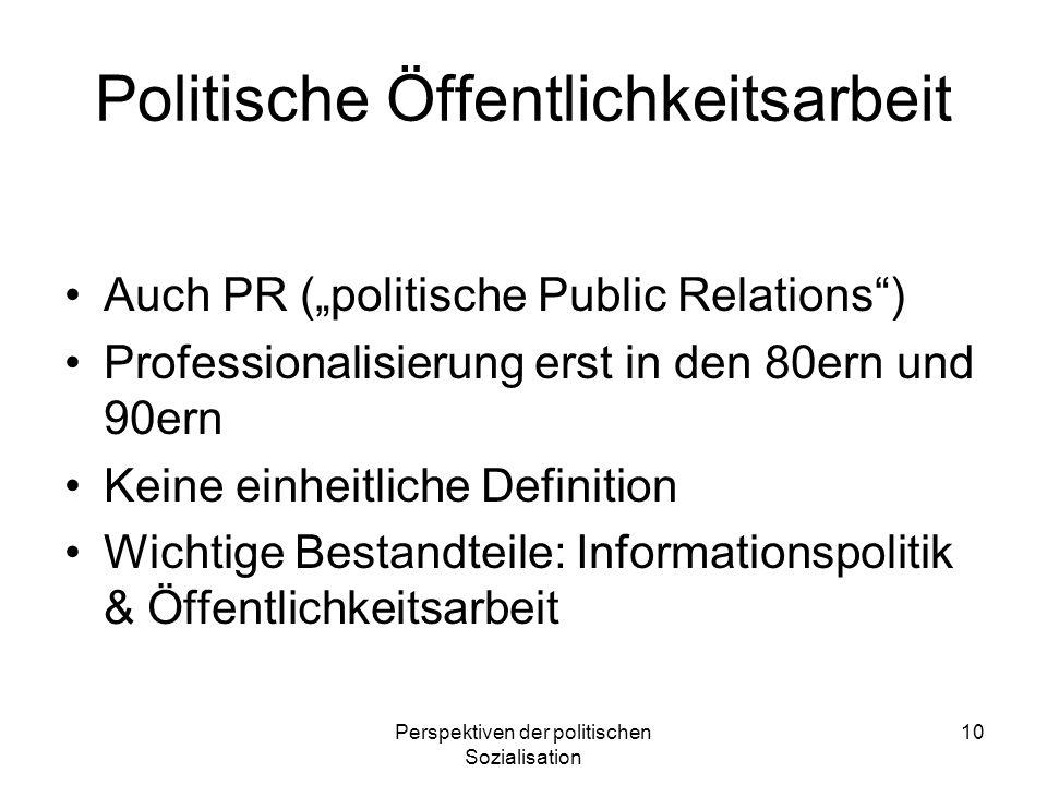 Politische Öffentlichkeitsarbeit