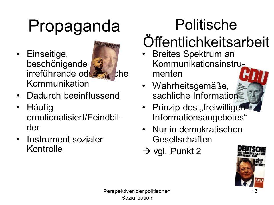 Propaganda Politische Öffentlichkeitsarbeit