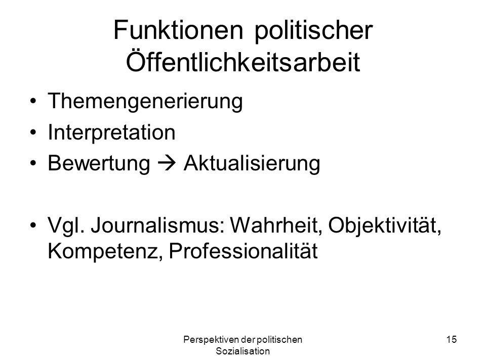 Funktionen politischer Öffentlichkeitsarbeit